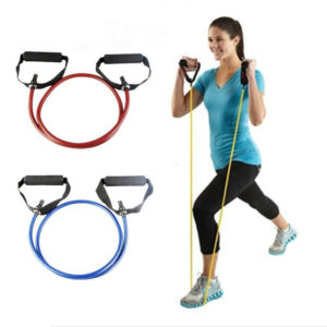120cm Yoga Pull Rope Fitness Resistance Bands Exercise Tubes Practical Training Elastic Band Rope Yoga Workout e1516307474669