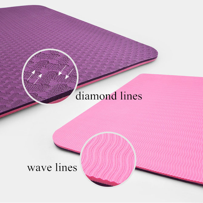 Non Slip Tpe Yoga Mat Workout Mat Rubber Gym Mat Think