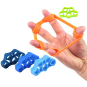 6pcs Finger resistance bands Hand Gripper Forearm Wrist Training Stretcher Exercise Pull Ring Grips Expander Fitness