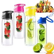 HOT 800ML flesh Fruit Infusing Infuser Portable Water Bottle Cycling Sport Lemon Juice kettle outdoor Health 1
