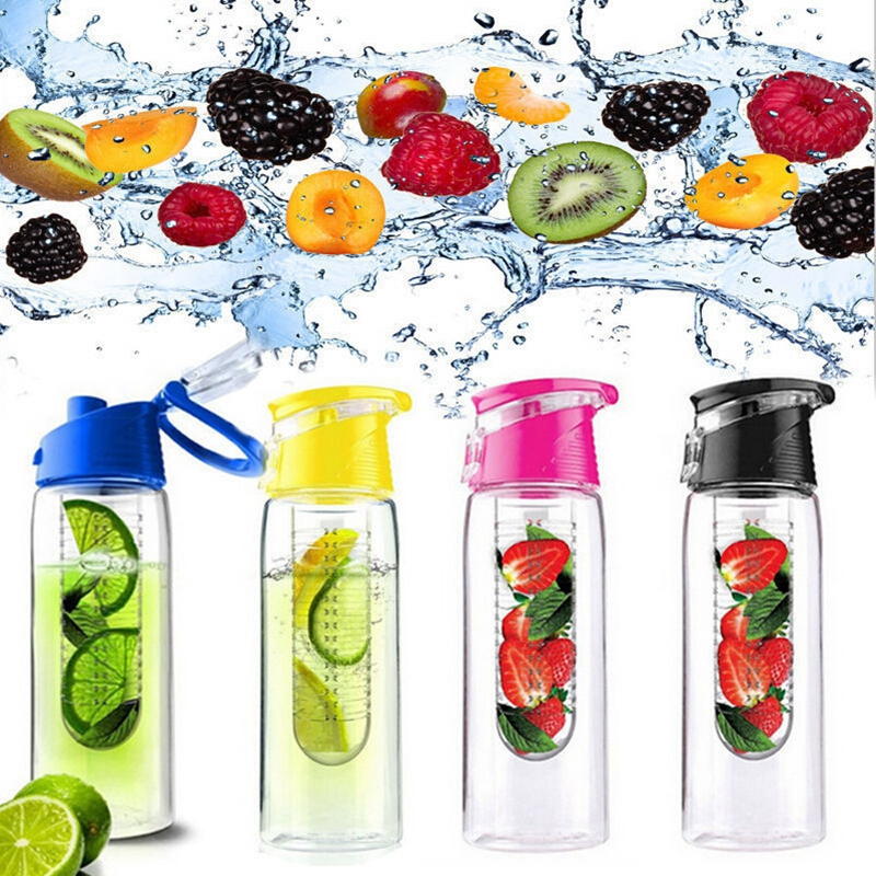 HOT 800ML flesh Fruit Infusing Infuser Portable Water Bottle Cycling Sport Lemon Juice kettle outdoor Health