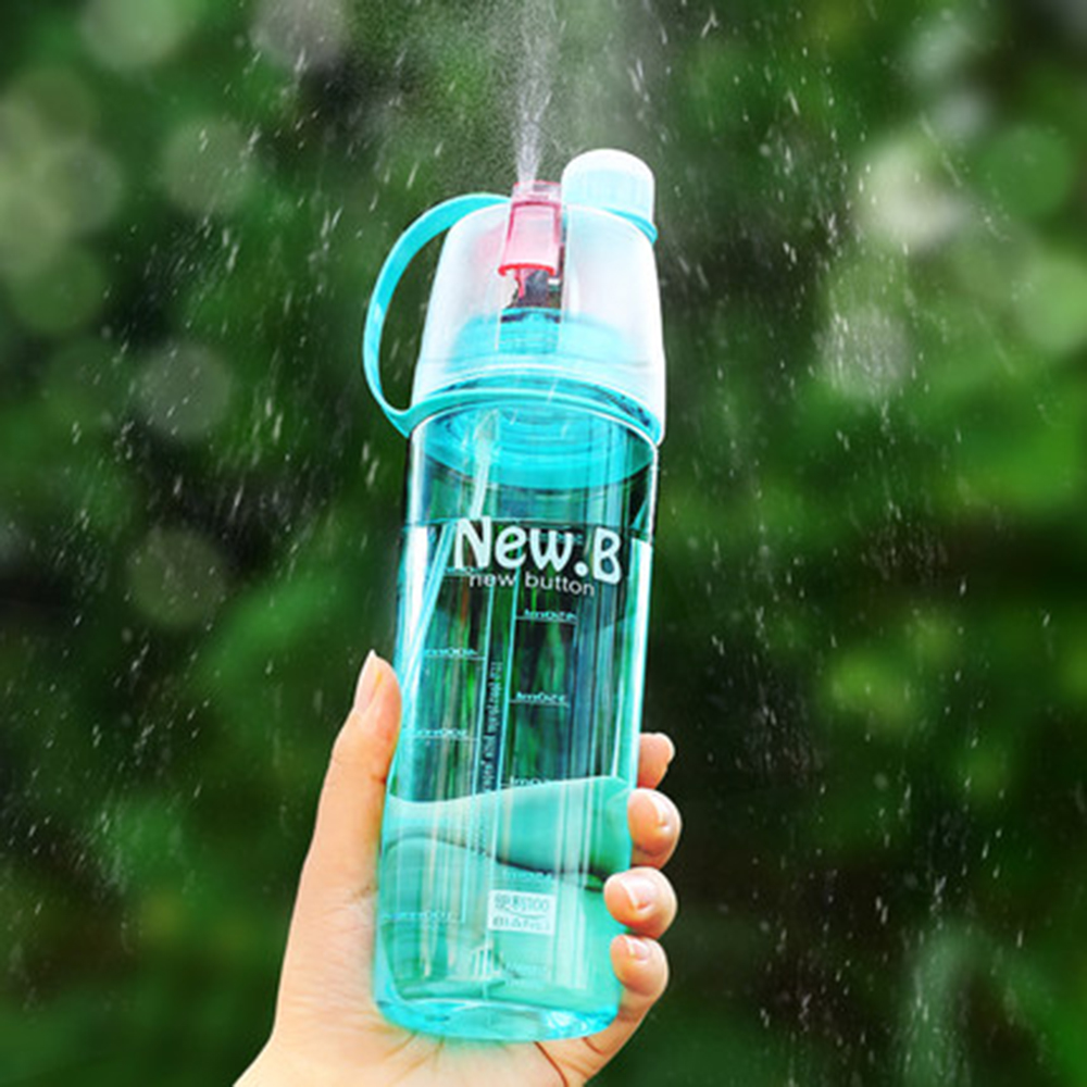 Sports Spray Water Bottle (400-600 ml): On-the-Go Plastic ...