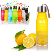 New Xmas Gift 650ml My Water Bottle plastic Fruit infusion bottle Infuser Drink Outdoor Sports Juice 2