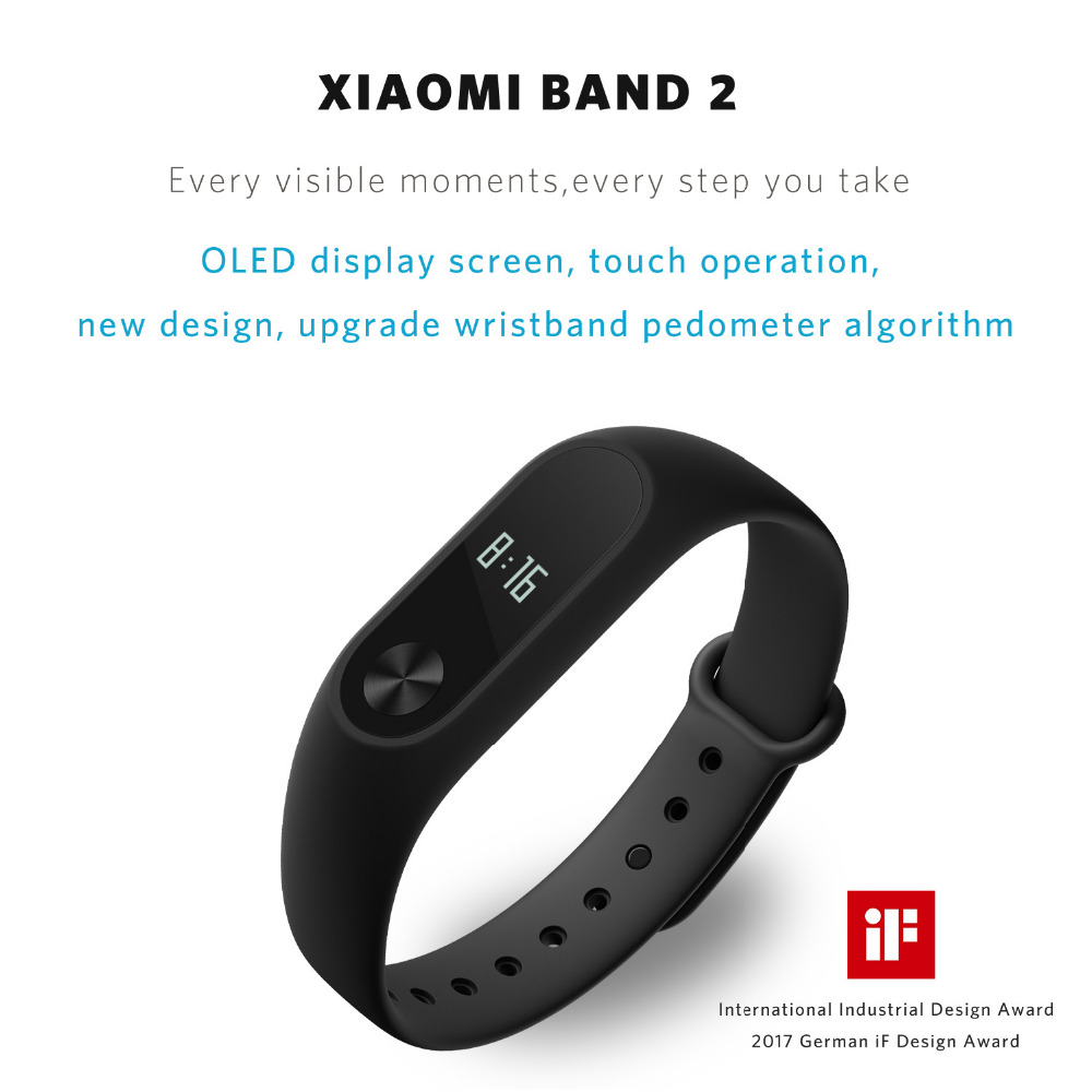 Xiaomi Mi Band 2: Waterproof & Bluetooth Fitness Band ...