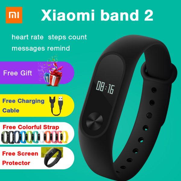 Original Xiaomi Mi Band 2 Smart Bracelet Watch Wristband Miband Fitness Tracker OLED Touchpad Sleep Monitor