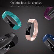 Sporch ID115 Smart Bracelet Sport Bracelet Fitness Tracker Watch Alarm Clock Step Counter Smart Wristband Band 3