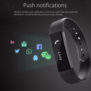 Sporch ID115 Smart Bracelet Sport Bracelet Fitness Tracker Watch Alarm Clock Step Counter Smart Wristband Band 5