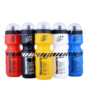 Transhome Sports Water Bottle 650ml Bicycle With Lid Portable Bike For Mountain Outdoor Camping Supplies For