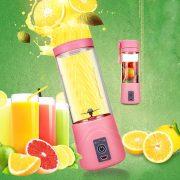 Transhome USB Rechargeable Juicer Water Bottle 400ml Mini Portable Electric Lemon Fruit Juicer Milkshake Smoothie Maker 2