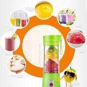 Transhome USB Rechargeable Juicer Water Bottle 400ml Mini Portable Electric Lemon Fruit Juicer Milkshake Smoothie Maker 4