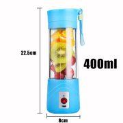 Transhome USB Rechargeable Juicer Water Bottle 400ml Mini Portable Electric Lemon Fruit Juicer Milkshake Smoothie Maker 5