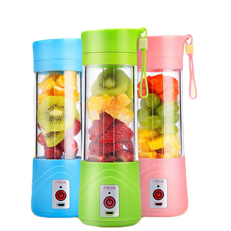 Transhome USB Rechargeable Juicer Water Bottle 400ml Mini Portable Electric Lemon Fruit Juicer Milkshake Smoothie Maker e1517189598346
