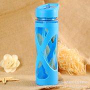 Urijk 580ml New Seal Straw Sport Water Bottle Anti Hot Leak Proof Plastic Sleeve Drink Bottle 1