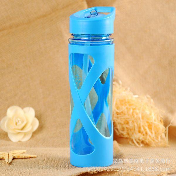 Water Bottle Leak Proof Plastic Seal Straw Protein Powder Shaker Drink Bottle