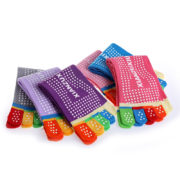 Women professional Yoga socks Non slip Women five finger Toe Socks Athletic Sport Pilates Massage Socks 1