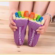 Women professional Yoga socks Non slip Women five finger Toe Socks Athletic Sport Pilates Massage Socks 3