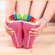 Women professional Yoga socks Non slip Women five finger Toe Socks Athletic Sport Pilates Massage Socks 4