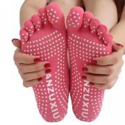 Women professional Yoga socks Non slip Women five finger Toe Socks Athletic Sport Pilates Massage Socks e1516219623490
