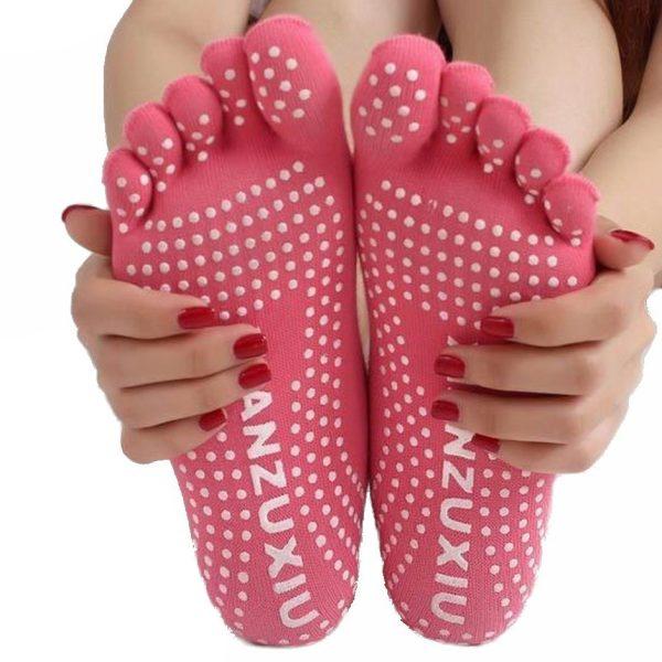 Grip Socks, Non-Slip Yoga Socks, Toe Socks for Women