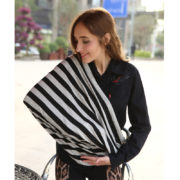 Baby Car Seat Cover Canopy Nursing Cover Multi Use Stretchy Infinity Scarf Breastfeeding Shopping Cart Cover 4