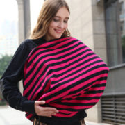 Baby Car Seat Cover Canopy Nursing Cover Multi Use Stretchy Infinity Scarf Breastfeeding Shopping Cart Cover 5