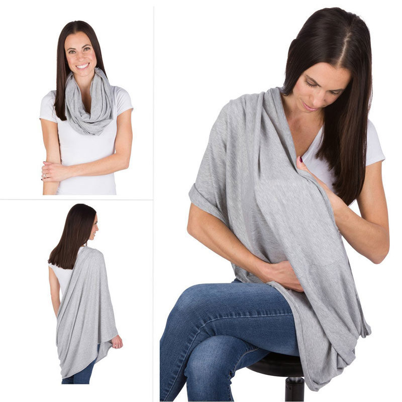 EGMAOBABY Nursing Scarf For Breastfeeding By Consider It Maid 100 Cotton Soft Lightweight Breathable Material e1517791091533