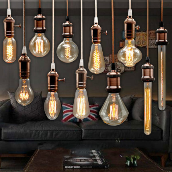 Carbon Filament Lamp Vintage Bulb Bulb Wedding Light for b7gYv6yf