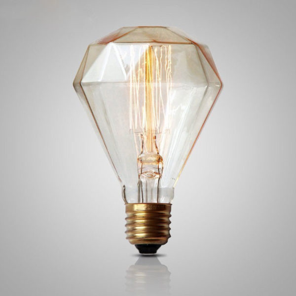 diamond edison bulb retro vintage light dimmable incandescent bulb. Black Bedroom Furniture Sets. Home Design Ideas