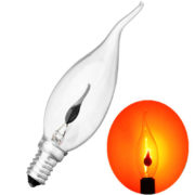 NEW Incandescent Vintage Bulb 3W 220V Retro Edison Art Decoration Pull Tail E14 Edison Bulb Candle