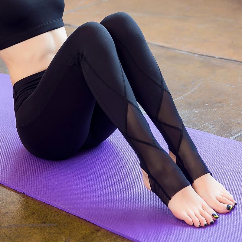 Sexy legs in yoga pants