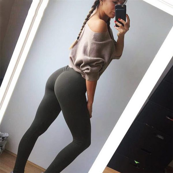 f706944e55 ... CALOFE Womens Sport Broek Sexy Push Up Gym Sport Leggings Vrouwen  Running Panty Skinny Joggers Broek